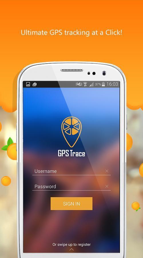GPS-Trace Orange